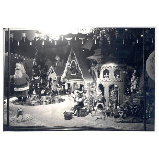 Vintage Holiday Window Display